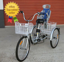 "Trike Bike 24"" Adult Tricycle with BABY SEAT - Carry your child SAFELY"