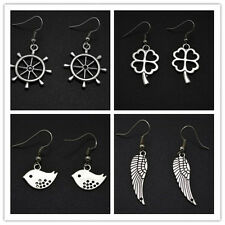 Women's New Cute Lovely Rudder Bird Wing Four Leaves Clover Earrings