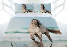 Wild Stallion Horse Mustang Quilt Doona Cover Set - Single Double Queen