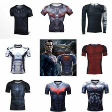 Marvel Superhero Black Panther Men's Compression Top T-shirts Fitness Sports Tee