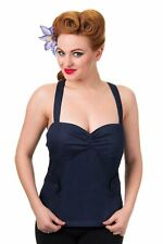 Banned Apparel - Women's Blueberry Hill Denim Rockabilly Top