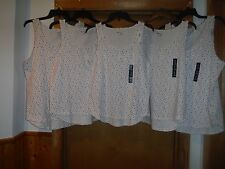 Sleeveless Blouses Gap Body size L,M,S, Ivory Multi small color 95% cotton 5% sp