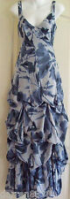 NEW~MONSOON~AVONDALE NAVY MAXI DRESS 8 £140 BLUE WHITE FLORAL, LINED, WEDDING