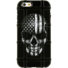 Magpul Field Case for iPhone SE,4,5,5s. Skull Black Sub. USA Flag Ego Tactical