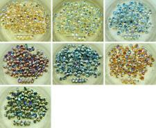 40pcs Crystal Rainbow Czech Glass Small Teardrop Beads 4mm x 6mm