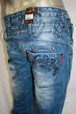 Men's Double Layer Stoned Wash Fashion Jeans By Cipo & Baxx 100% Cotton