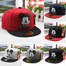 Kids Boy Girls Adjustable Mickey Baseball Cap Snapback Hip-hop Outing Sports Hat