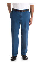 Haggar Work 2 Weekend Classic Fit Straight Leg Flat Front Denim Pants Mens