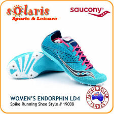 Saucony Endorphin LD4 Women's Distance Running Spike 19008 Blue Track Spike Shoe