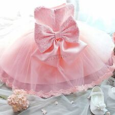 Infant Baby Girls Floral Lace Princess Wedding Pageant Formal Party Tutu Dress