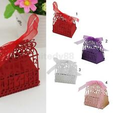 20PCS Bird Cage Laser Cut Gift Candy Box w/ Ribbon Wedding Party Favor CHOICE
