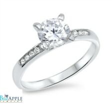 Solitaire Dazzling Wedding Engagement Ring 925 Sterling Silver 2.00CT Russian CZ