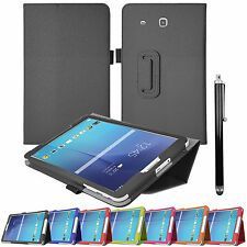 """Flip Leather Folio Stand Case Cover For Samsung Galaxy Tab E 9.6"""" SM-T560-T561"""