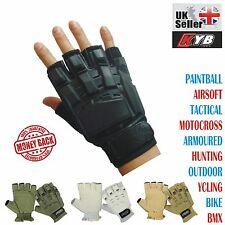 KYB Paintball Airsoft Tactical Motocross Cycling Armour Half Finger Less Gloves