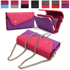Womens Link Wallet Case & Crossbody Clutch Cover for Smart Cell Phones CRWL4