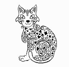 Counted Cross Stitch Pattern or Kit, Animal, Cat