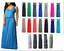 WOMENS LADIES PRINTED RACER BACK BUBBLE TOGA JERSEY VEST LONG BALLOON MAXI DRESS