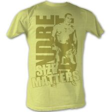 Andre The Giant T-Shirt - Size Gold Wrestling Yellow Heather Adult Tee Shirt