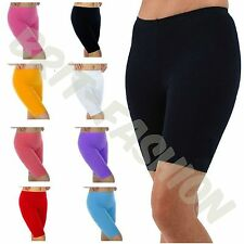 Womens Ladies COTTON KNEE LENGTH Active Dance Cycling Gym Leggings SHORTS Lot 41