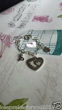 PERSONALISED PHOTO ENGRAVED HEART CHARM BRACELET OR PENDENT - FREE HANGING CHARM