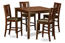 5 Pc gathering table set-Dinette table and 4 counter height chairs