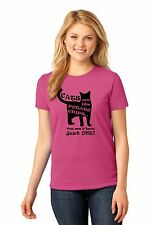 Women's Pet Kitty Cat Lover Cats Are Like Potato Chips T Shirt 100% Cotton Pink