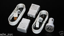 New Samsung Galaxy Note 4, S3, S4, S6 Wall & Car Adapter Charger,USB Data Sync