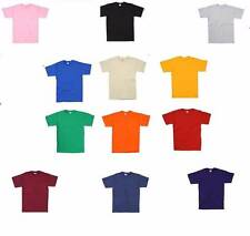 Childrens Kids Fruit Of The Loom 100% Cotton T Shirt t-Shirt 12 Colours All Ages