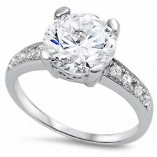 Dazzling Classic Wedding Engagement Ring 925 Sterling Silver 3.00CT Clear CZ