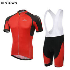 New Red Cycling Clothing Sports Pro Team Jersey Sets Bicycle Jacket (bib) Shorts