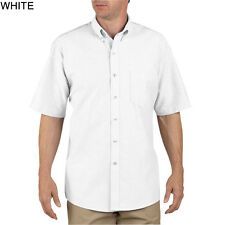 Dickies White Short Sleeve Button Down Oxford Shirts Size S-XXL NWT