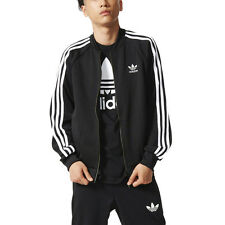 Adidas Men's Superstar Track Jacket Black Originals Jacket AB9717 NEW!