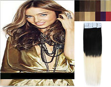 16''-24'' T Color 1/613 Women Seamless Tape In Remy Human Hair Extensions 20pcs