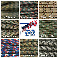 550 Paracord Type III 7 strand 550 parachute cord 1 -1000 ft