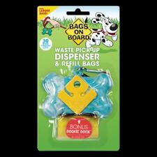 Bags on Board Waste Pick-Up Bone Dispenser & Refill Bags with Dookie Dock