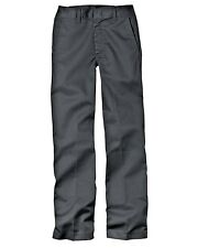 Dickies Back to School Uniform Flat Front Charcoal Grey Pants Size 4-20 NWT