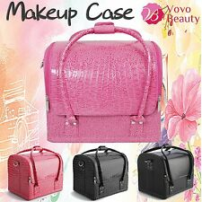 Soft Leather Beauty Cosmetic Makeup Make Up Vanity Case Therapist Nail Box Lady