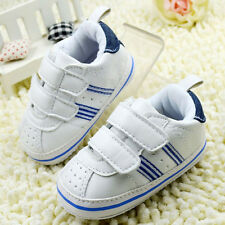 Toddler Infant Baby Casual Sneaker Faux Leather Soft Sole Crib Shoes Sports Shoe