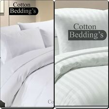 Fast Shipping - 800 1000 1200 TC 100% Egyptian Cotton Hotel Double Size - White