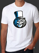 Hatbox Ghost T-Shirt Disney Haunted Mansion Hat Box New Basic White Tee