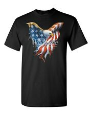 American Bald Eagle USA Patriotic Flag Wing T Shirt All Sizes & Colors (110)