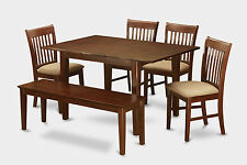 6 Piece dinette set for small spaces- tables and 4 dining chairs and Bench