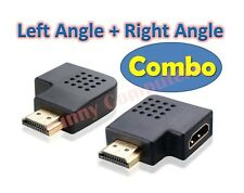New HDMI 90° Left Right Angle Rotate Joiner Adapter Male Female M/F Connector