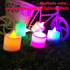 Flicker Light Flameless LED Tealight Tea Candles Wedding Light With Colorful