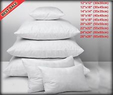 """Cushion Inners Pads Fillers Hollow fibre Inserts  12""""14""""16""""18""""20""""22""""24""""26""""28""""30"""""""