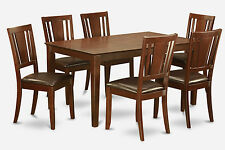 7 PC Dining Room Set for 6-Table and 6 Dining room Chairs