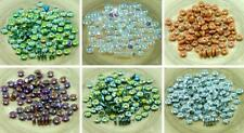 60pcs Czech Glass Disc Beads Solo Flat Disk Spacer One Hole 6mm