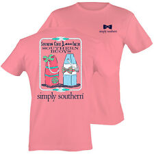 Simply Southern Southern Girls Love Southern Buoys Bright Girlie T-Shirt