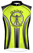 Primal Wear Old Fart Cycling Jersey HiViz Men's Sleeveless with DeFeet Socks