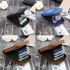 Mens/Womens Mini Leather ID Credit Cards Holder Organizer Wallet Purse BG